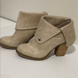 Sbicca tan fold over booties like new size 8